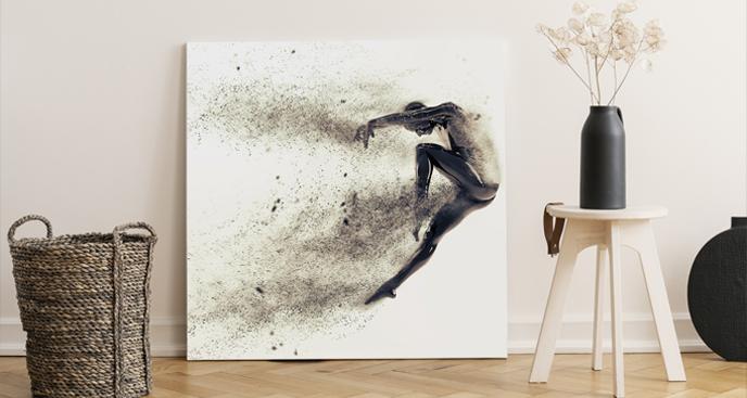 Obraz sport i sylwetka tancerza