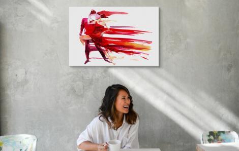 Obraz sport i tancerze