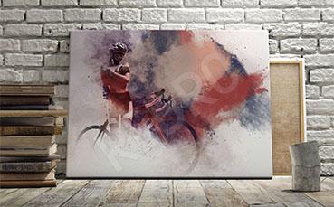 Obraz sportowy kolarstwo