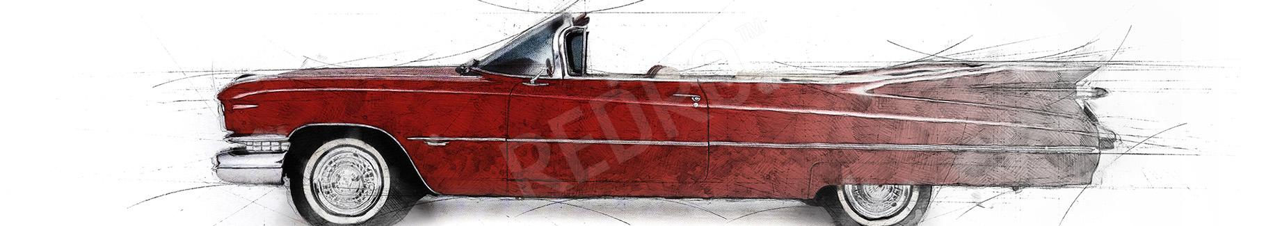 Obraz sportowy samochód