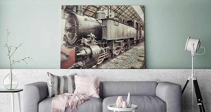 Obraz stara lokomotywa