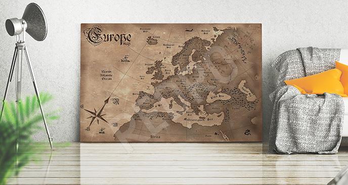 Obraz stara mapa Europy