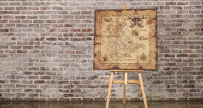 Obraz stara mapa piratów