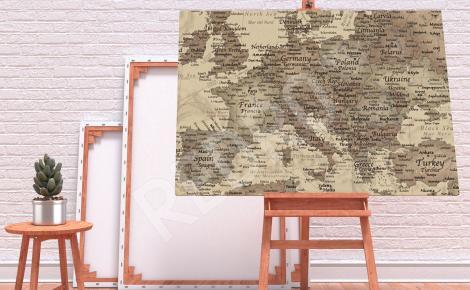 Obraz stara mapa świata do salonu