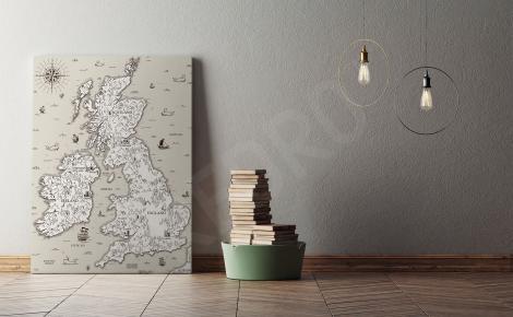 Obraz stara mapa Wielkiej Brytanii