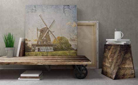 Obraz stary drewniany wiatrak