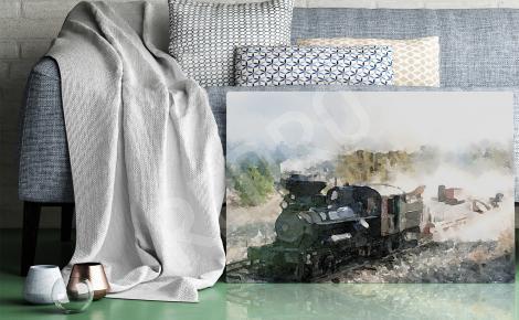 Obraz stary pociąg
