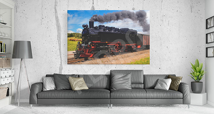 Obraz stary pociąg do salonu