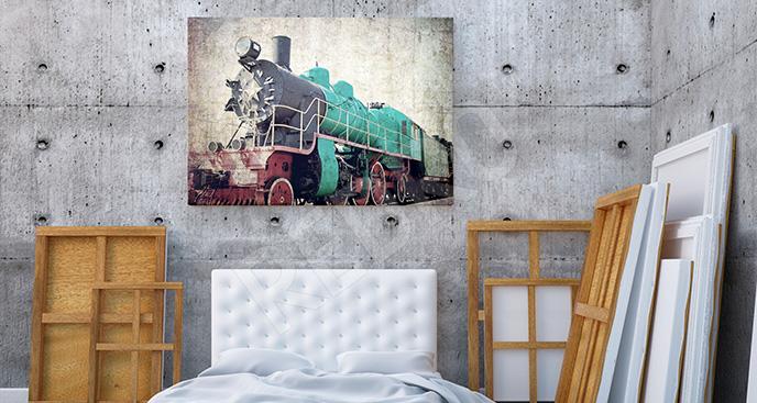 Obraz stary pojazd do sypialni