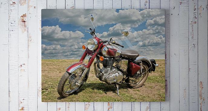 Obraz stary pojazd: motocykl