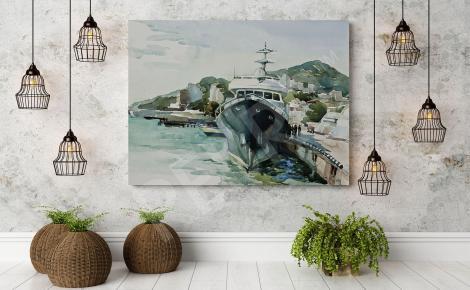 Obraz statek malarstwo