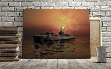 Obraz statek wojskowy
