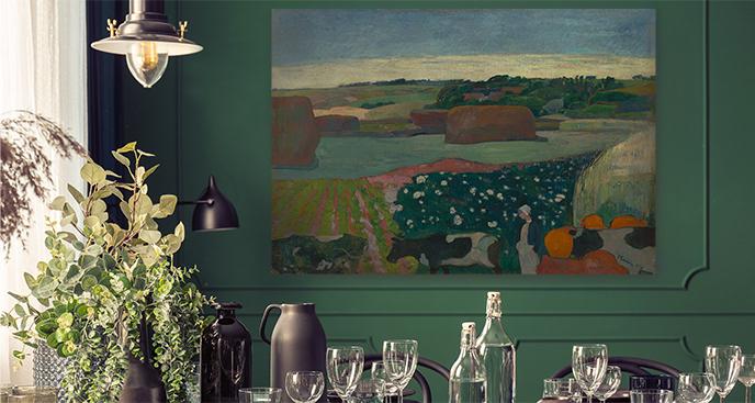 Obraz Stogi siana w Bretanii