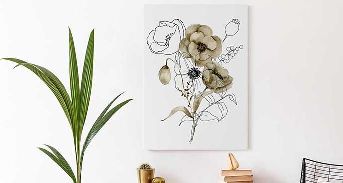 Obraz kwiaty maków na łące