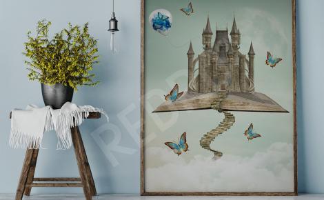 Obraz surrealistyczny zamek