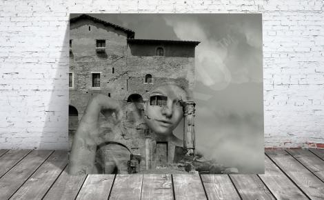 Obraz surrealizm czarno-biały