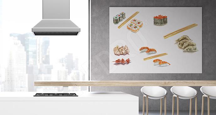 Obraz sushi do kuchni