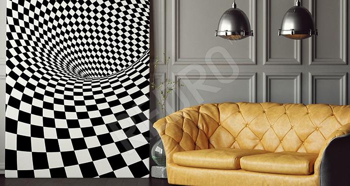 Obraz szachownica 3D