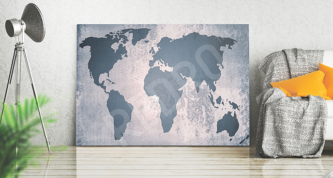 Obraz szare kontynenty