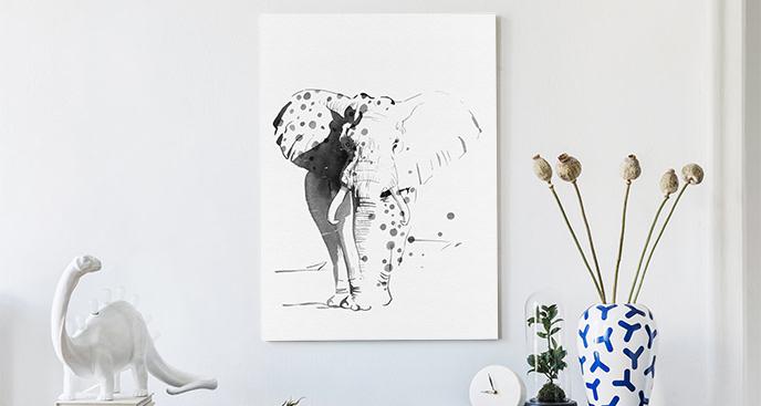 Obraz szkic słonia