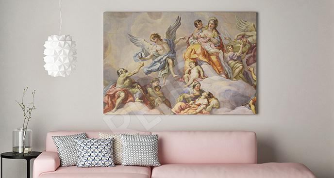 Obraz sztuka barokowa do salonu