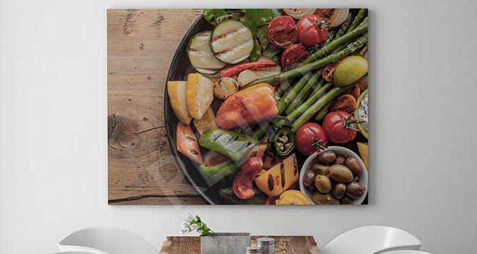 Obraz talerz z warzyw