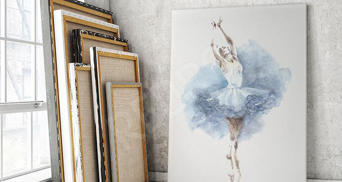 Obraz tańcząca baletnica akwarela