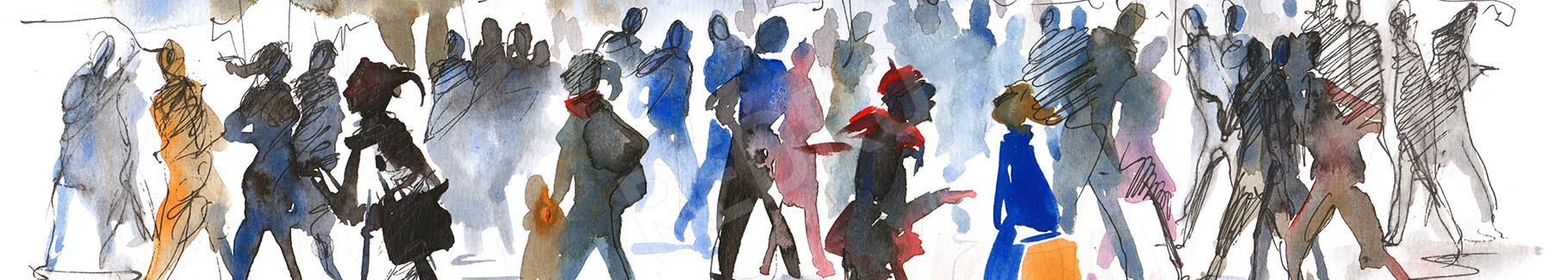 Obraz tłum ludzi