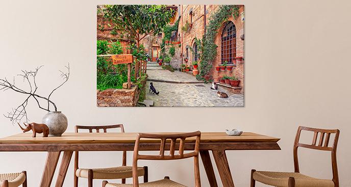 Obraz zamek w Toskanii