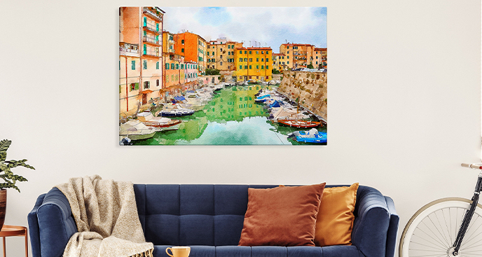 Obraz Toskania w akwareli