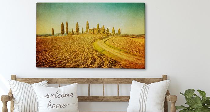 Obraz Toskania w ciepłych odcieniach