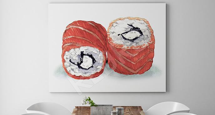 Obraz tradycyjne sushi