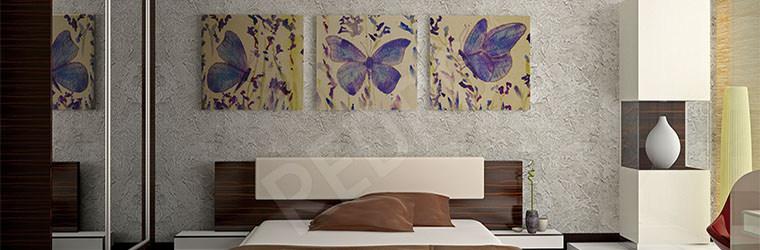 Obraz tryptyk do sypialni motyle
