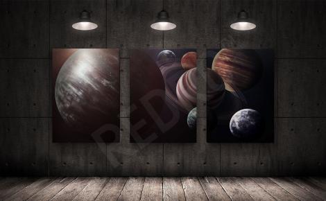 Obraz tryptyk z planetami