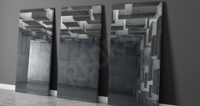 Obraz tryptyk trójwymiarowy