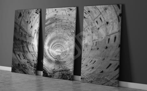 Obraz tryptyk tunel 3D
