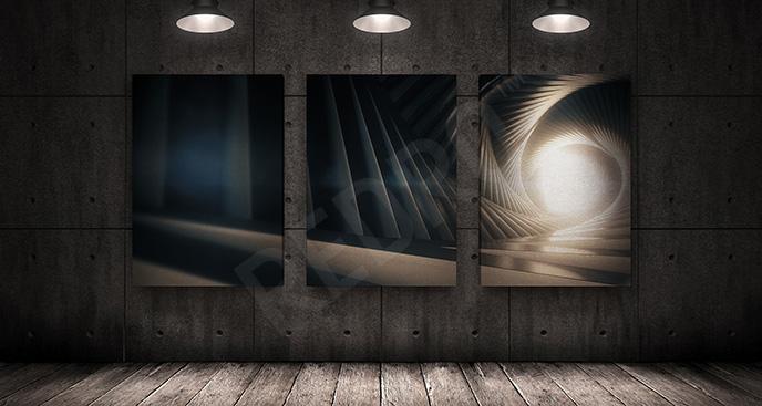 Obraz tryptyk z tunelem
