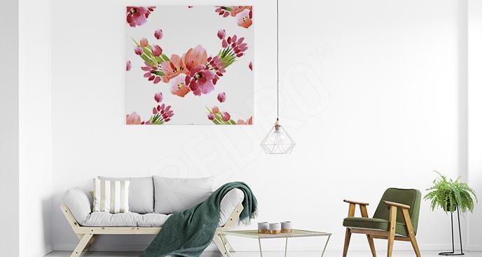 Obraz tulipany w pękach