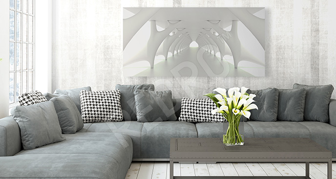 Obraz tunel 3d minimalizm