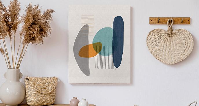 Obraz abstrakcja geometryczna