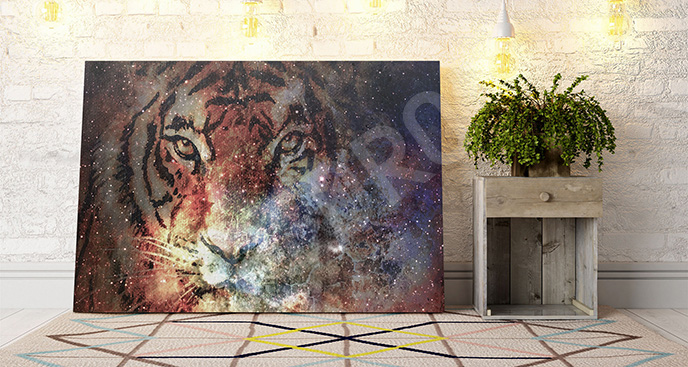 Obraz tygrys abstrakcja