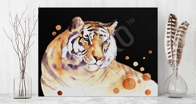Obraz tygrys akwarela