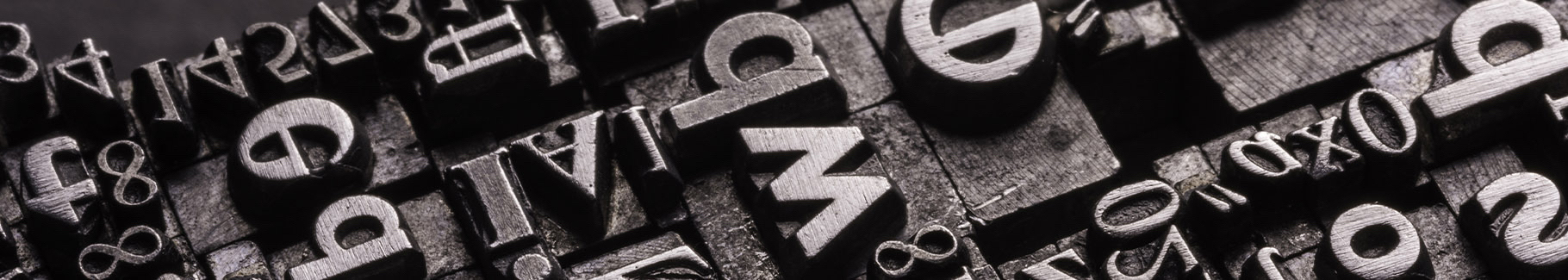 Obraz typografia w industrialnym stylu