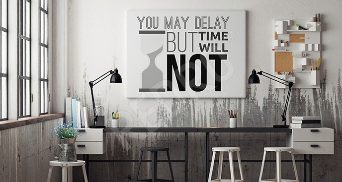 Obraz typograficzny do biura