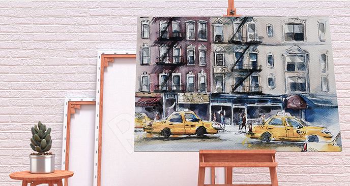 Obraz ulica w Nowym Jorku