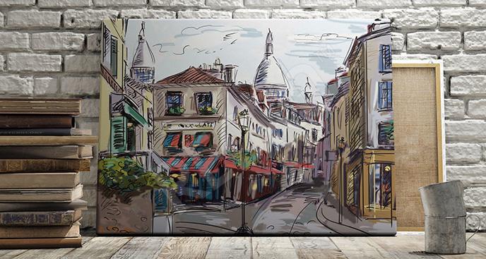 Obraz ulica w Paryżu