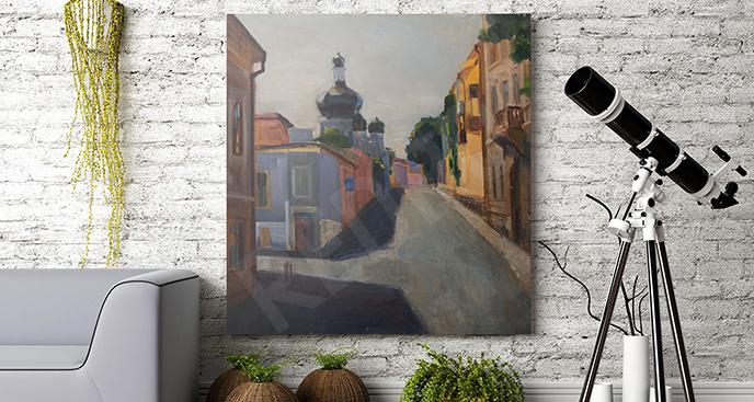 Obraz uliczka miasta - do salonu