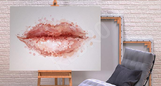 Obraz usta do sypialni