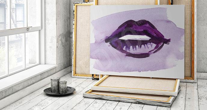 Obraz usta malarstwo
