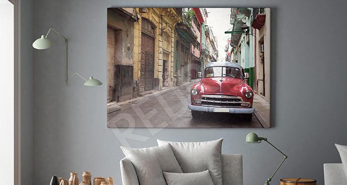 Obraz vintage auto w Hawanie